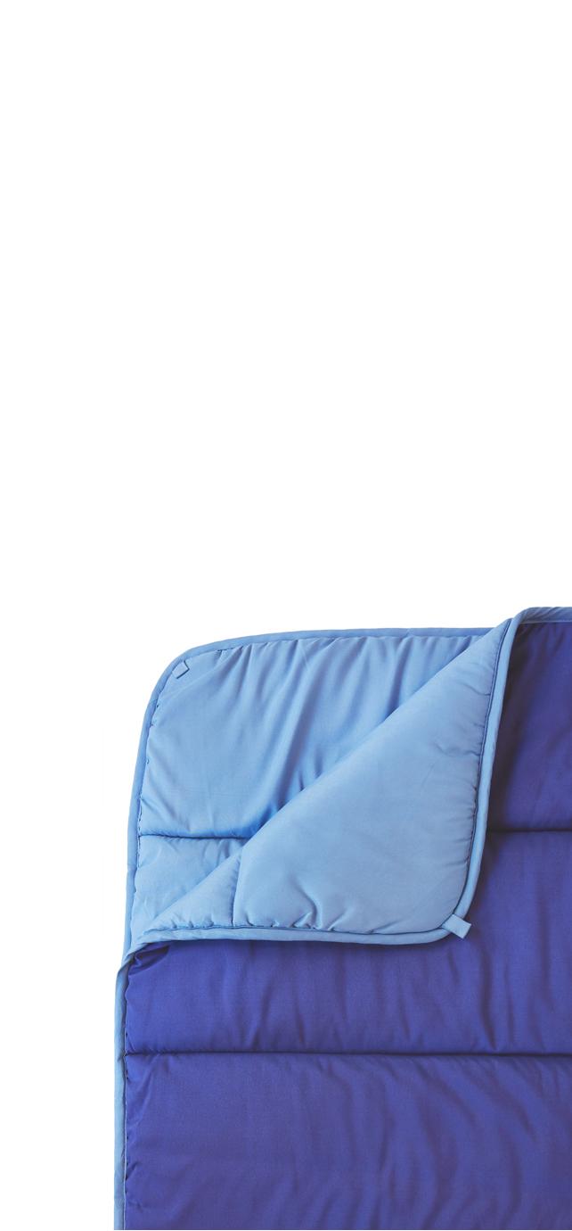 blue comforter flatlay mobile